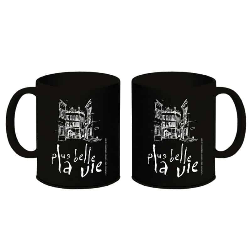 Mug Plus Belle La Vie NOIR Logo Vintage