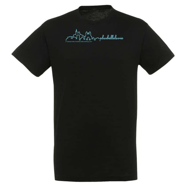 T-shirt Plus Belle La Vie NOIR Notre Dame