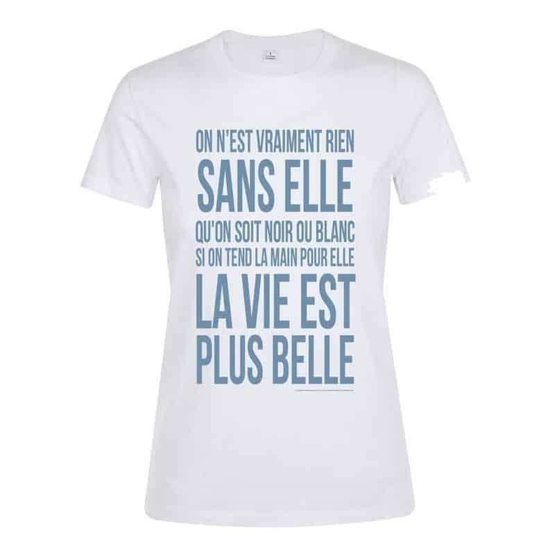 T-shirt femme Generique Blanc Plus Belle La Vie