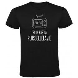 T-shirt Noir J'Peux Pas J'ai Plus Belle La Vie