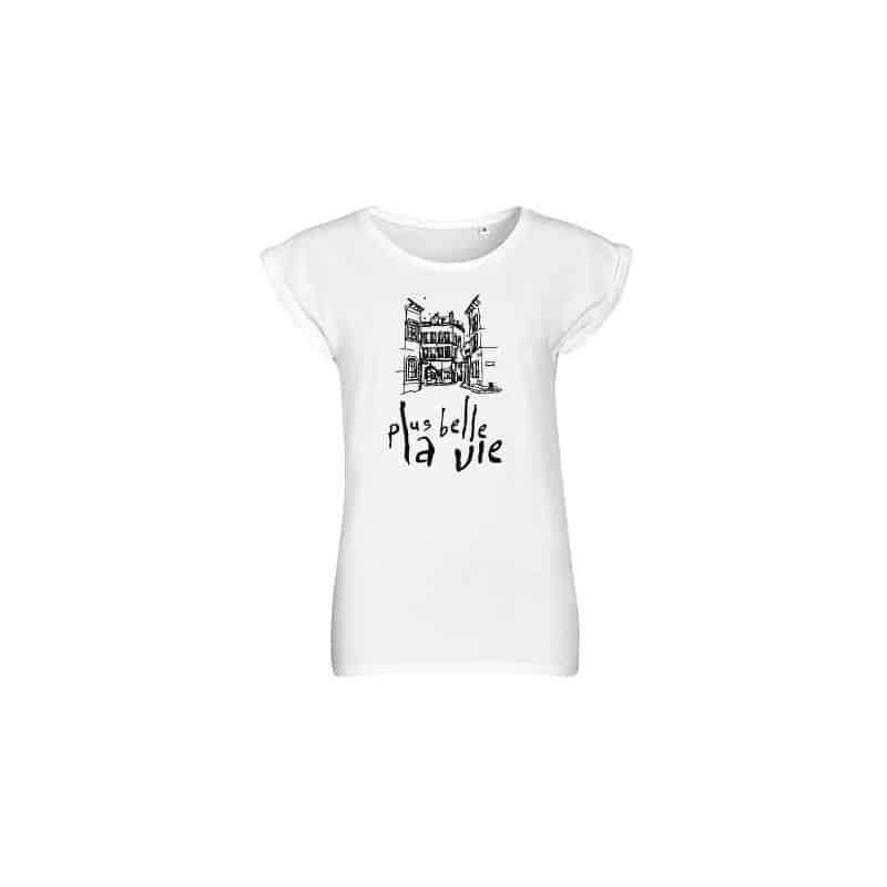 T-shirt femme Vintage blanc Plus Belle La Vie