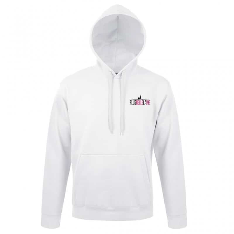 Sweat Shirt Logo Blanc Plus Belle La Vie