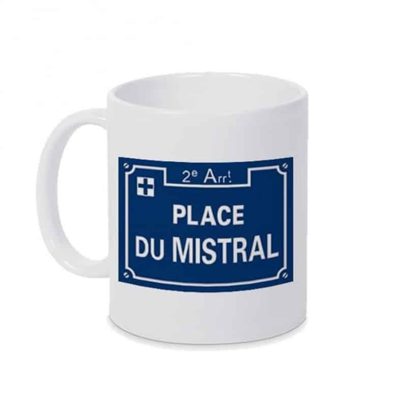 Mug Plaque place du mistral Blanc Plus Belle La Vie